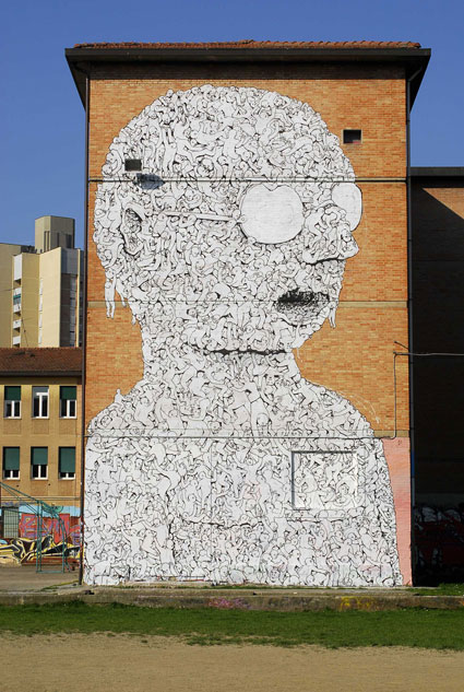 Bologna Wall, by Blu