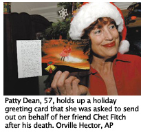 Patty Dean with Chet Fitch greeting card from heaven