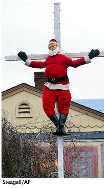 Santa on the Cross, Steagall/AP