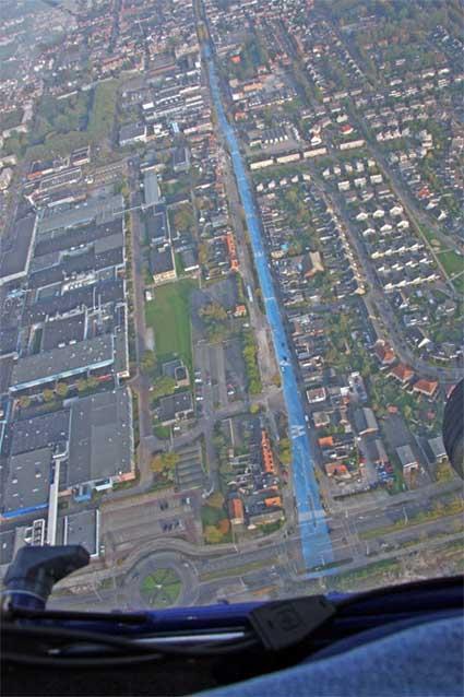 Urban River Aerial, by Henk Hofstra