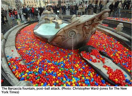 """Barcaccia fountain with Graziano Cecchini""""™s balls"""