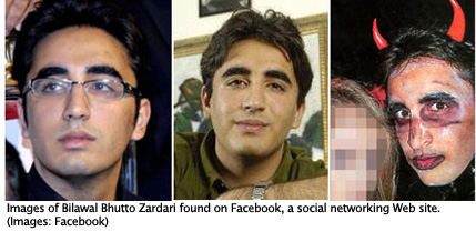 Images of Bilawal Bhutto Zardari found on Facebook, a social networking Web site. (Images: Facebook)