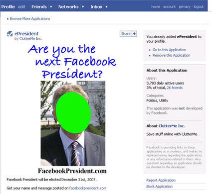 Facebook ePresident