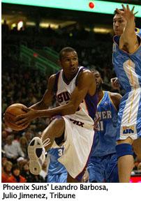 "Phoenix Suns""™ Leandro Barbosa, by Julio Jimenez, Tribune"