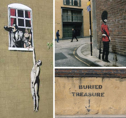 Banksy Graffiti Collage