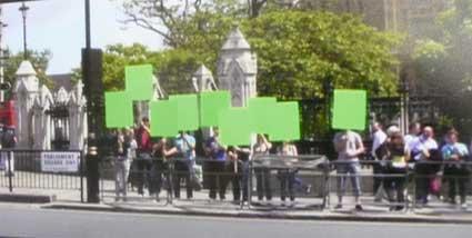 Tony Mullin and Green Screen Protesting
