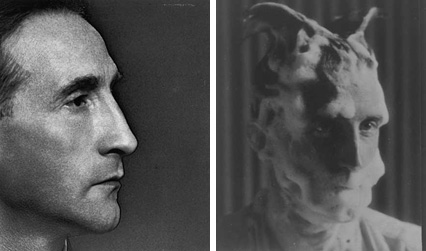 Profile Portrait of Marcel Duchamp & Duchamp with Shaving Lather for Monte Carlo Bond, by Man Ray