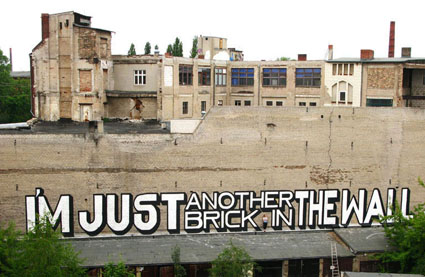 I'm Just another brick in the wall, by Above