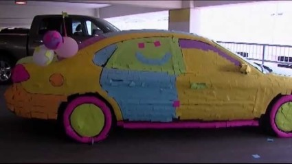 Post-It Cop Car