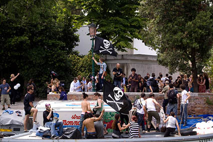 Clandestine pirates at Biennale